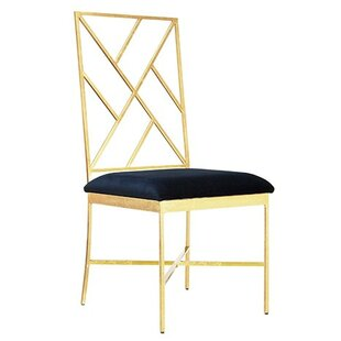 Fretwork Upholstered Dining Chair by Worl..