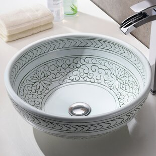 Compare prices Cadence Glass Circular Vessel Bathroom Sink By ANZZI