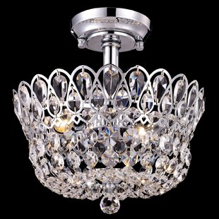 Denny 2-Light Semi Flush Mount by House of Hampton