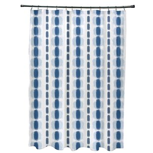 Leal Watercolor Stripe Single Shower Curtain