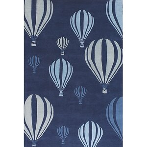 Caddy Balloon White/Blue Area Rug