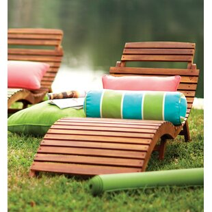 Beachcrest Home Tifany Wood Outdoor Chaise Lounge