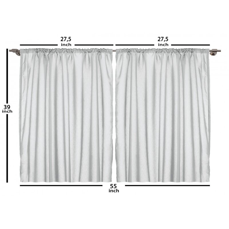 East Urban Home Fantasy 2 Piece Kitchen Curtain Set Wayfair