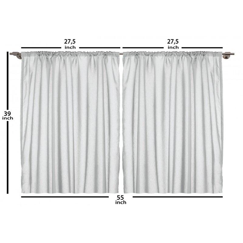 East Urban Home Motivational 2 Piece Kitchen Curtain Set Wayfair