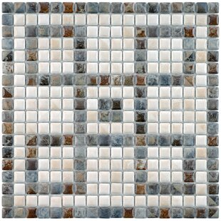 Samoan Greek Key 0 56 X Porcelain Mosaic Tile In Gray White