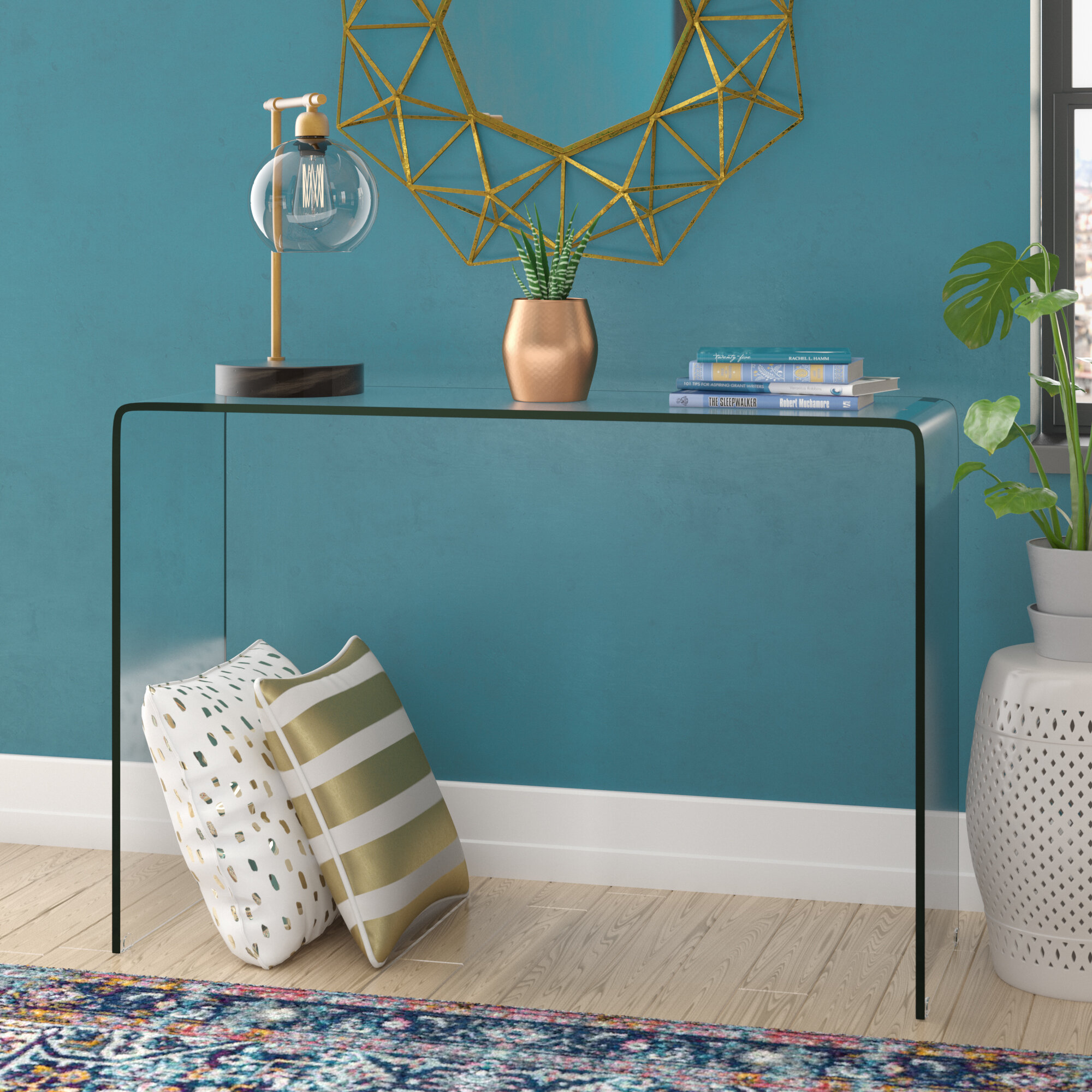 sports shoes bf9ae fa64a Stephan Contemporary Console Table
