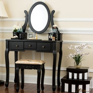 Fonso Dressing Vanity Set with Mirror