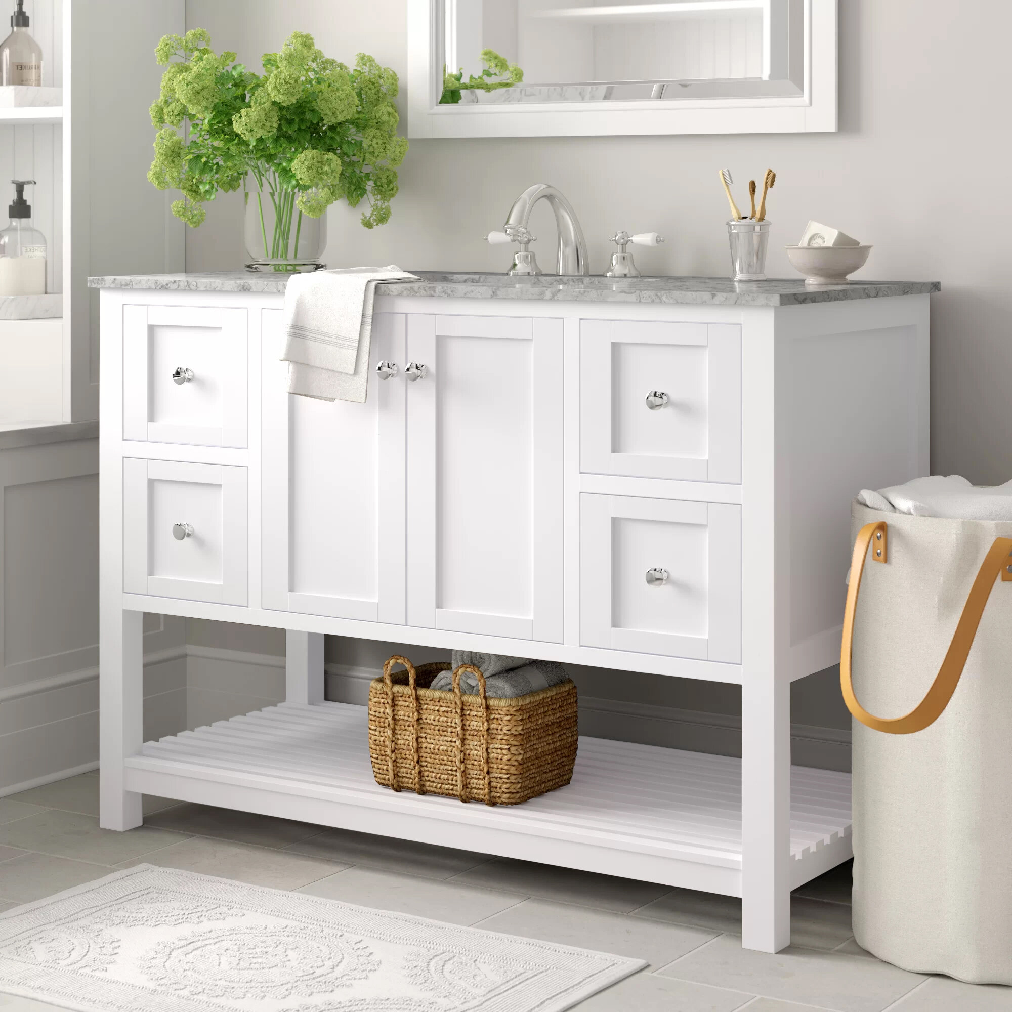 Wood Bathroom Vanities Wayfair