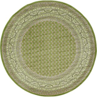 Swinson Geometric Green Area Rug by Charlton Home