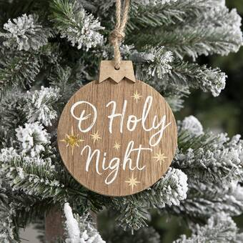 The Holiday Aisle Oh Holy Night Holiday Shaped Ornament Wayfair