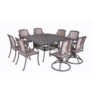 Fleur De Lis Living Gunter 9 Piece Dining Set