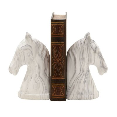 Charlton Home Equestrian Bust Book Ends