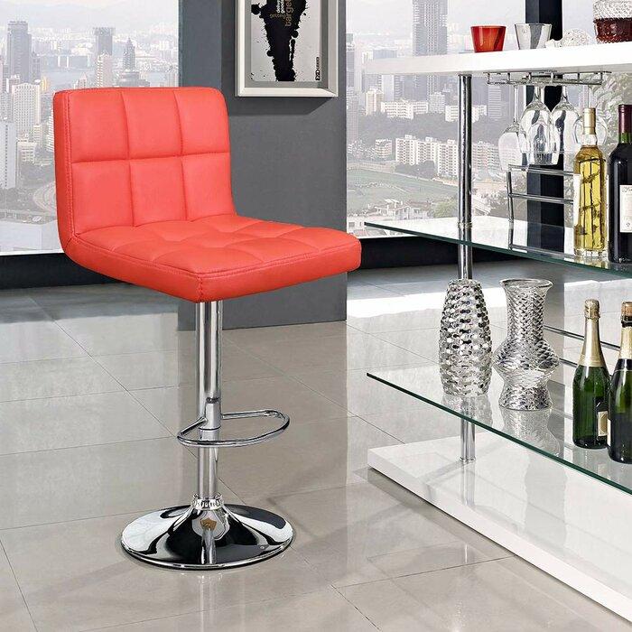 Groovy Renea Adjustable Height 33 Swivel Bar Stool Ibusinesslaw Wood Chair Design Ideas Ibusinesslaworg