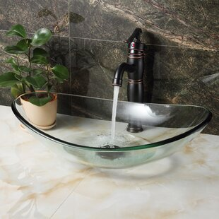Check Prices Tempered Glass Oval Vessel Bathroom Sink By Elite