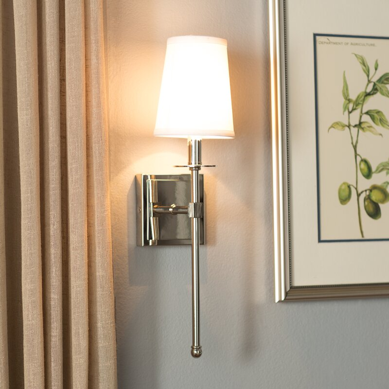 Bathroom Wall Sconce With Electrical Outlet Home Design: Three Posts Cooperstown 1-Light Wallchiere & Reviews