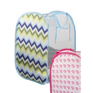 Home Basics Pop Up Printed Laundry Hamper (Set of 3)