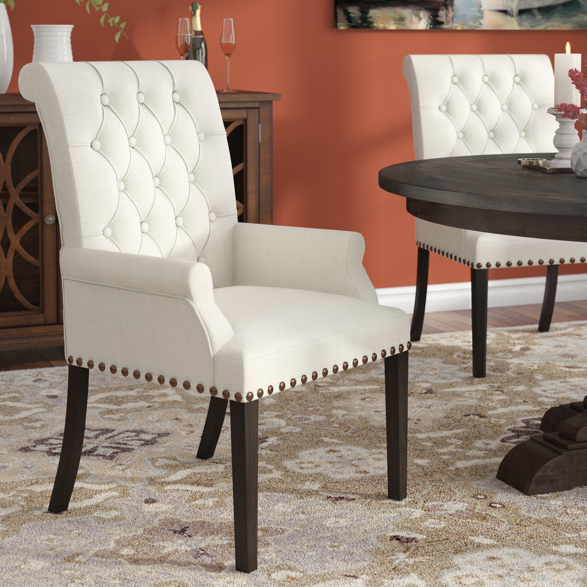 Three Posts Bumgardner Upholstered Dining Chair Reviews