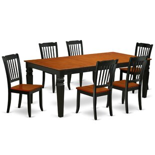 Labriola 7 Piece Extendable Solid Wood Dining Set