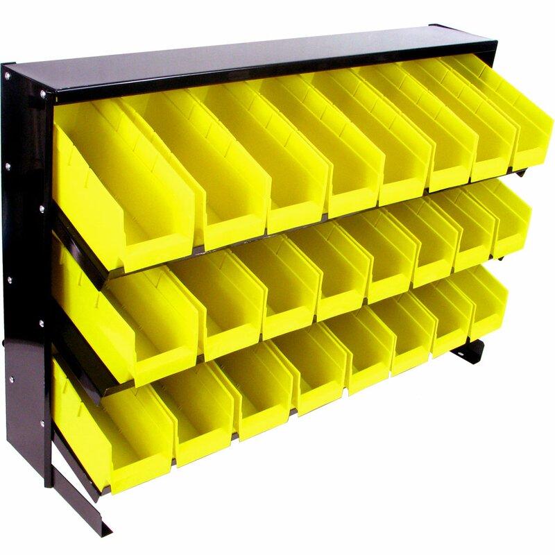 Marvelous 24 Bin Parts Storage Rack Trays