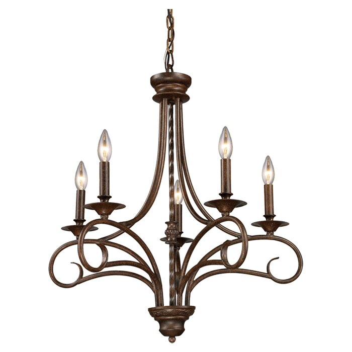 Fleur De Lis Living Dubuque 5 Light Candle Style Classic Traditional Chandelier Reviews Wayfair