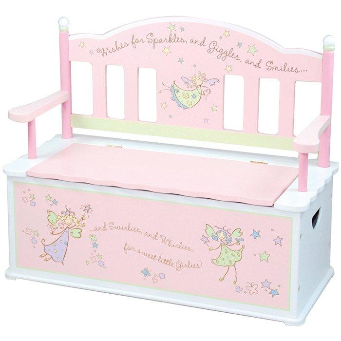 Wildkin Kids Fairy Wishes Bench With Storage U0026 Reviews | Wayfair