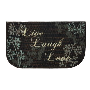Textured Loop Live Laugh Love Kitchen Black/Brown Area Rug by Structures