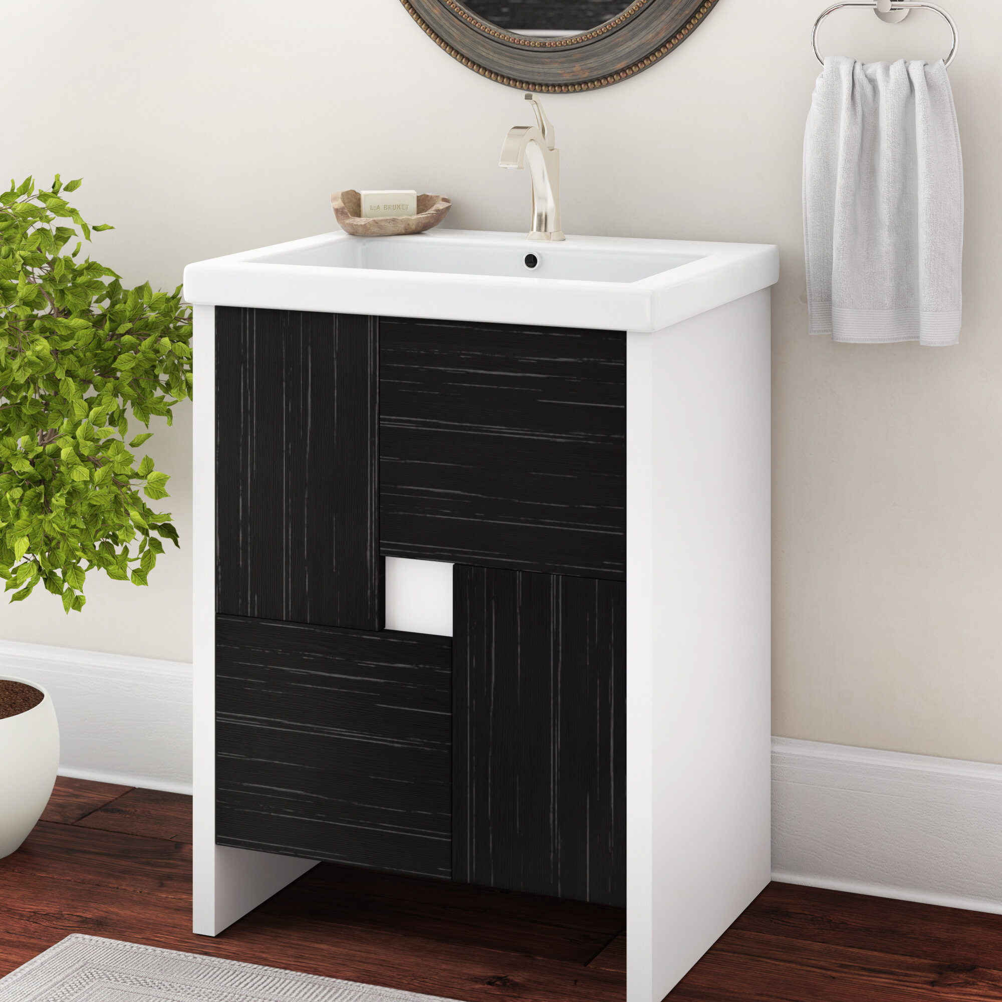 Zipcode Design Tifton 24 Single Bathroom Vanity Set Reviews Wayfair