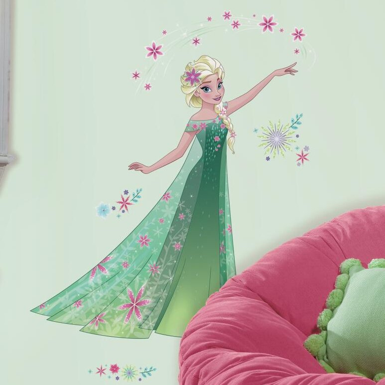 Disney Frozen Fever Elsa Peel And Stick Giant Wall Decal