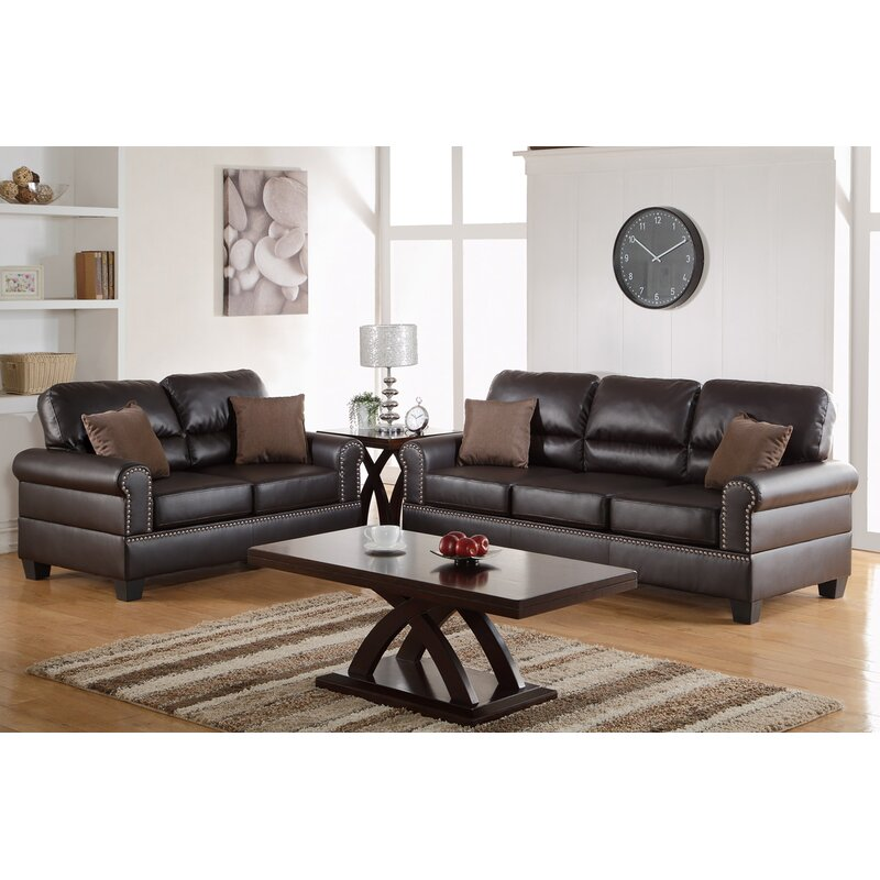 Boyster 2 Piece Faux Leather Living Room Set