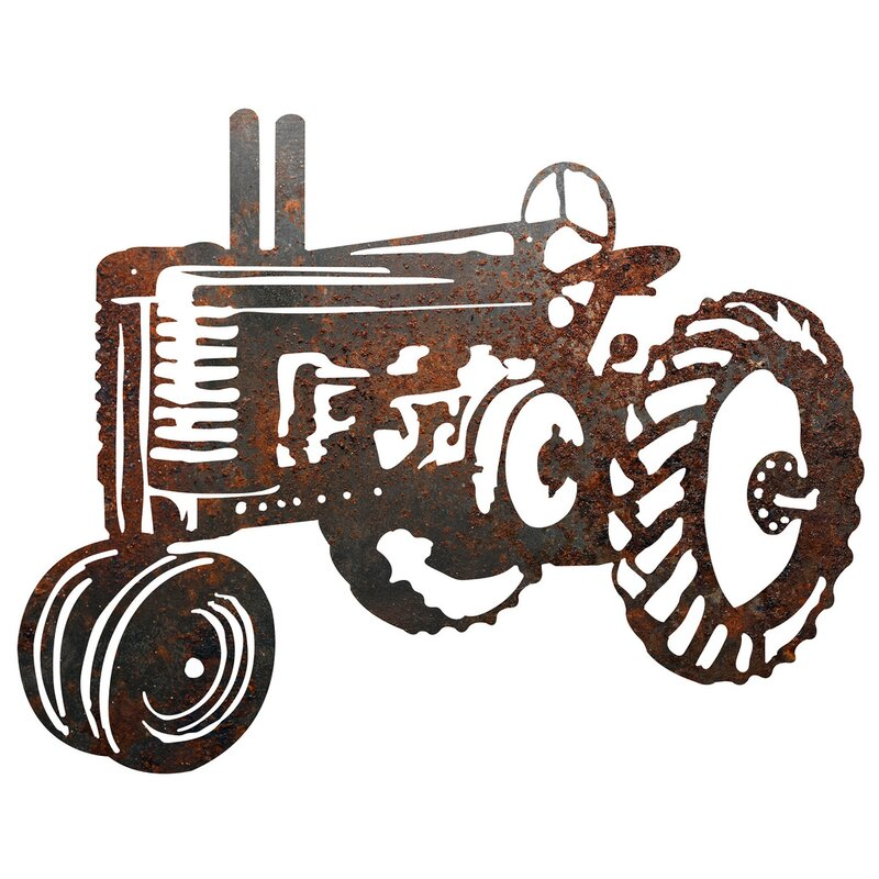 Metal Tractor Sign Wall Décor