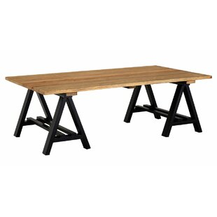 Best Pine Wood & Iron Coffee Table By Williston Forge