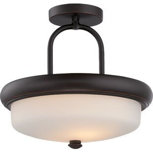 Burhill 2-Light Semi Flush Mount by Latitude Run