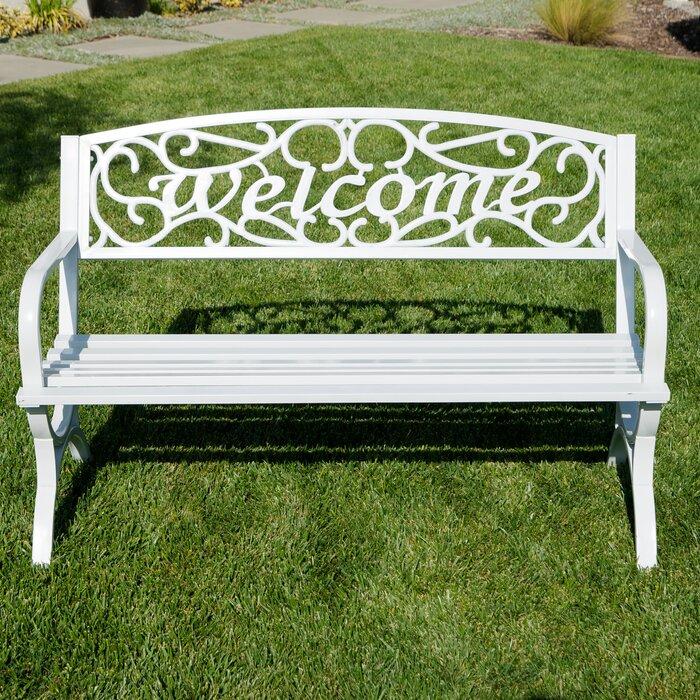 Strange Lundin Outdoor Metal Park Bench Machost Co Dining Chair Design Ideas Machostcouk