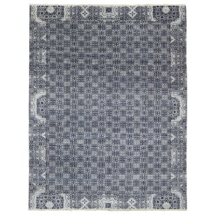 Best Price Sascha Hand Woven Wool Gray/White Area Rug By Bloomsbury Market
