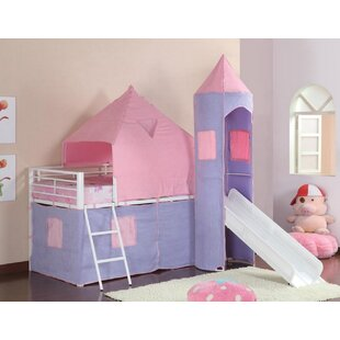 Pippin Princess Castle Twin Low Loft Bed by Zoomie Kids