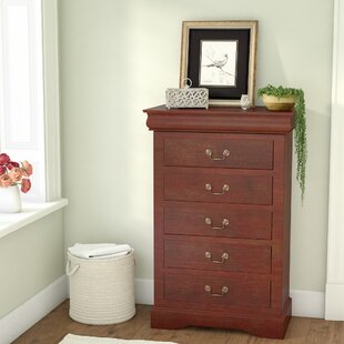 Buy luxury Homestead 5 Drawer Chest by Three Posts
