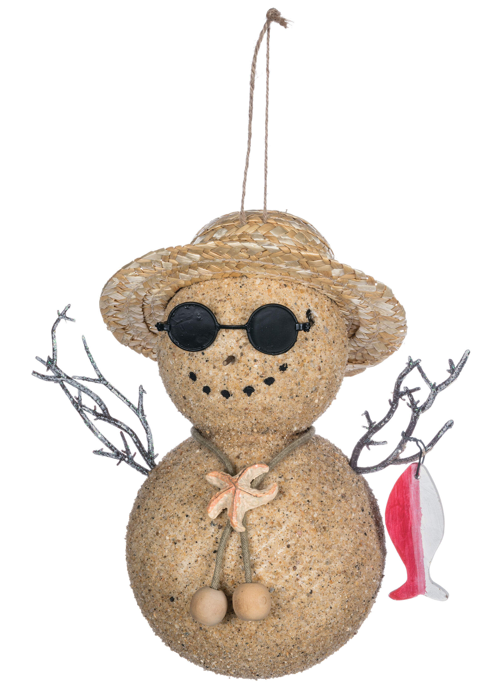 The Holiday Aisle Seaside Snowman Hanging Figurine Ornament Wayfair