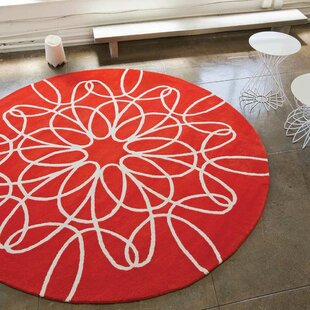 Look for Ribbon Red/White Area Rug By notNeutral