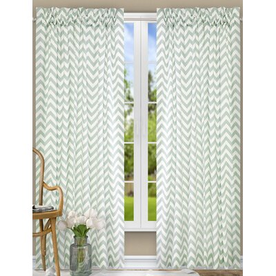 "Ellis Curtain Reston Single Curtain Panel Colour: Spa, Size per Panel: 50"" W x 63"" L"