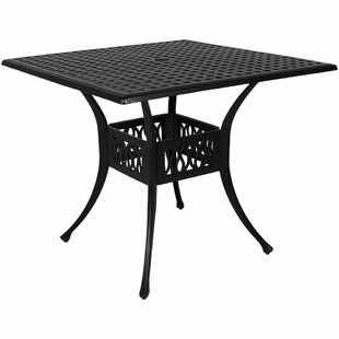 Isabelle Cast Aluminum Square Dining Table by Alcott Hill