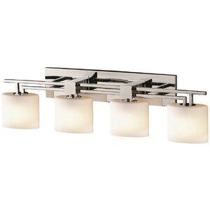 Luzerne Aero 4 Light Oval Bath Vanity Light