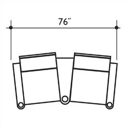 Signature Series Barcelona Home Theater Row Seating Row of 2