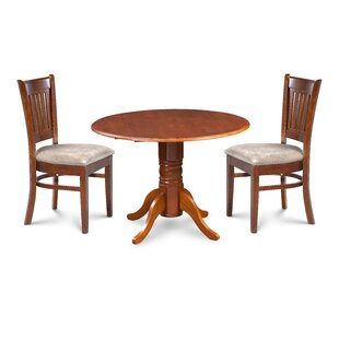 Miriam 3 Piece Drop Leaf Solid Wood Dinin..