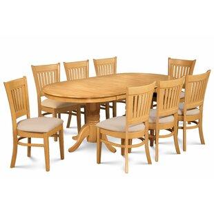 Breakwater Bay Miriam Wooden 9 Piece Extendable Dining Set