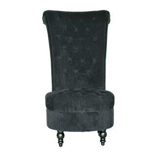 High Back Side Chair and Ottoman HomCom