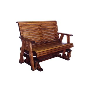 Loon Peak Poulos Low Back Glider Bench