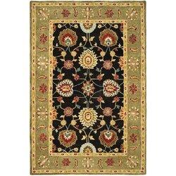 Black And Green Area Rugs safavieh anatolia black/green area rug & reviews   wayfair