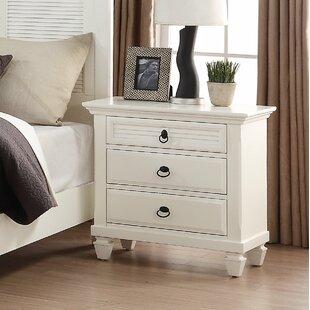 Roundhill Furniture Regitina 2 Drawer Nightstand