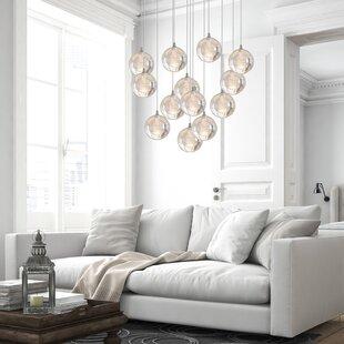 Riverdale 13-Light LED Cluster Pendant by Orren Ellis