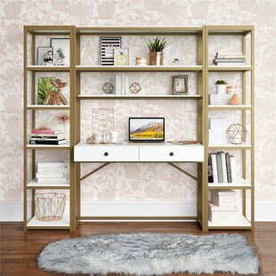 Billie Desk With Hutch And Bookcase Set by CosmoLiving Cosmopolitan Spacial Price